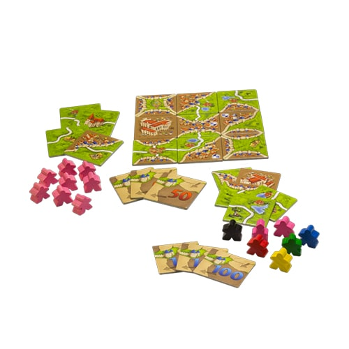 Carcassonne Expansion 1- Inns & Cathedrals Components