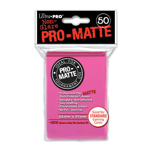 Pro Matte Bright Pink Deck Protector Sleeves