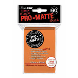 Pro Matte Orange Deck Protector Sleeves