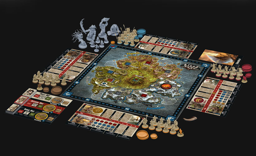Blood Rage Review - Game Components