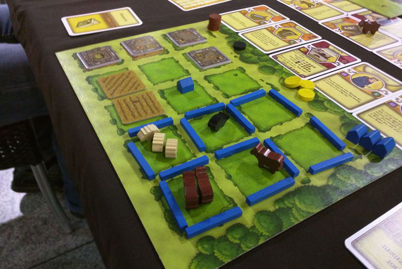 Playing Agricola Board Game