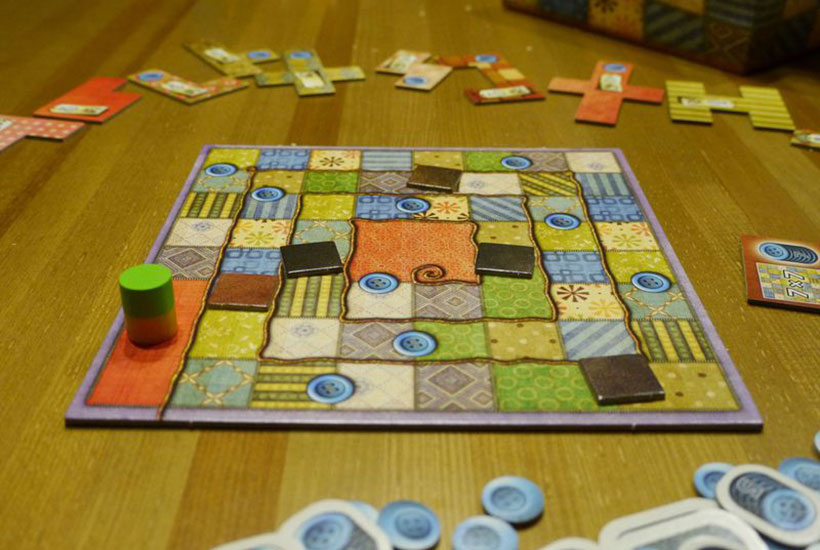 Playing Patchwork Board Game