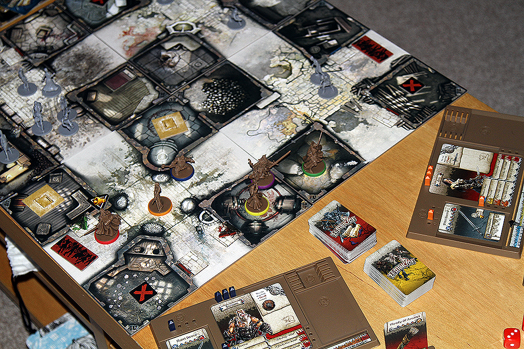 Zombicide Black Plague Board and Cards
