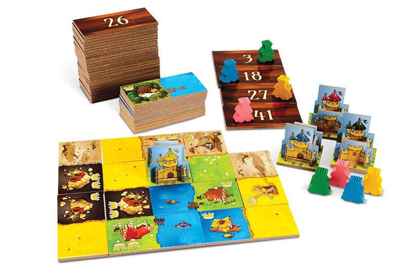 Kingdomino Board Game Review - Components