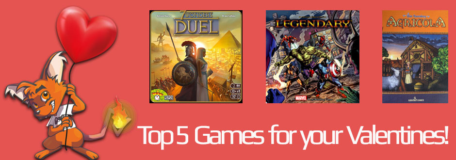 Top 5 games for your valentine