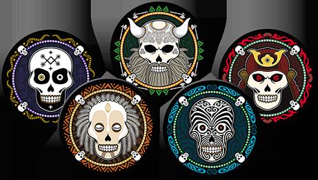 Skull Board Game - Skull Characters