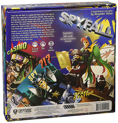 Spyfall - Back of the box