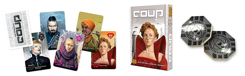 Coup Board Game Components