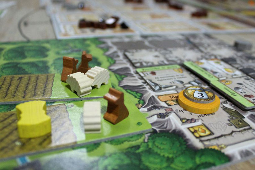 Playing Caverna Board Game