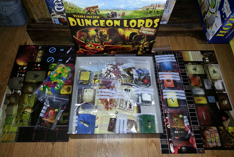 Dungeon Lords Review - Box Contents