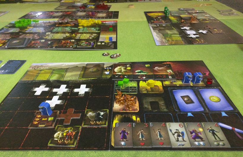 Dungeon Lords Review - Player Board