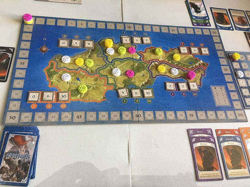 Ethnos board and cards