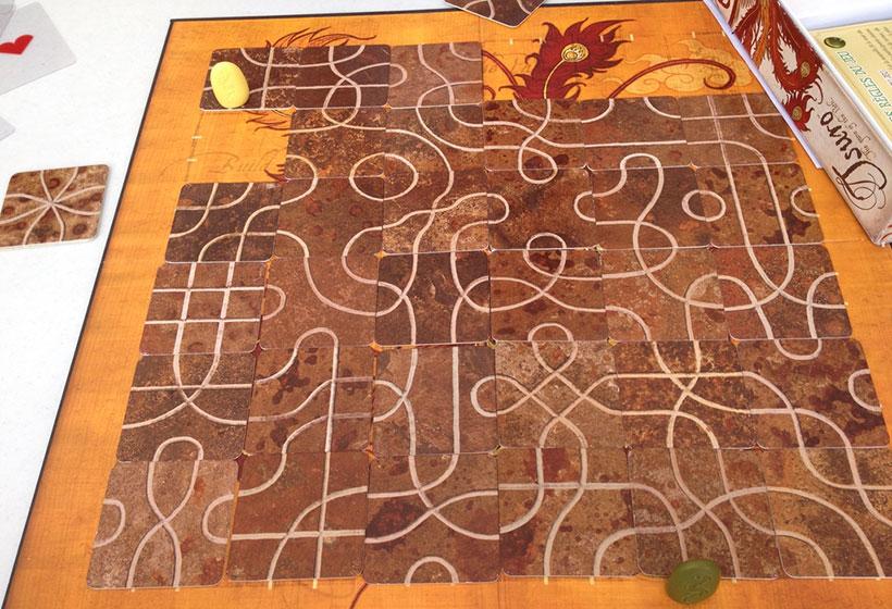 Playing Tsuro Board Game