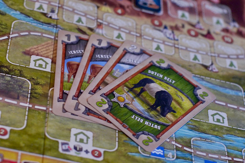 Great Western Trail Review - Cow Cards