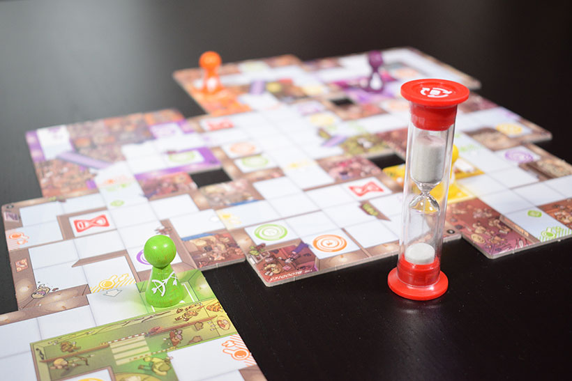 Magic Maze Board Game - Board & Timer