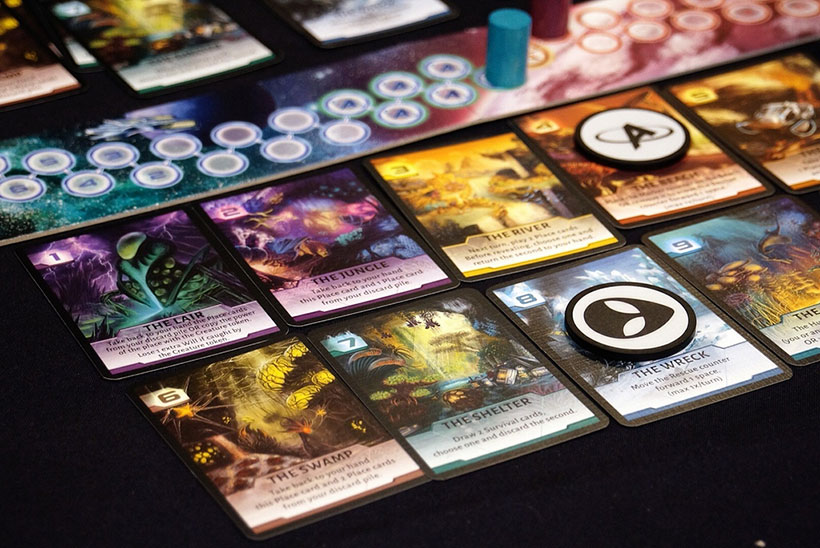Not Alone Board Game Components