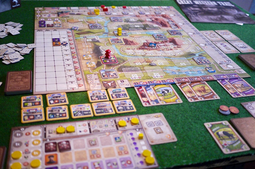 Playing Great Western Trail Game