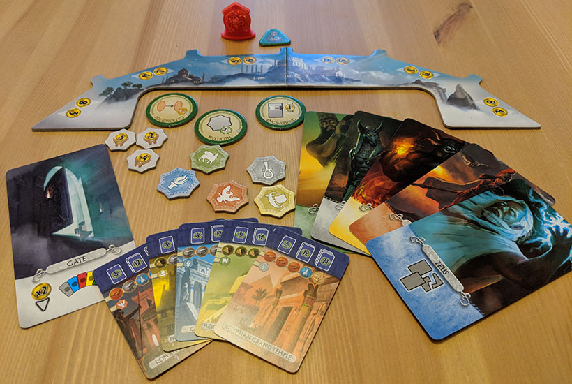 7 Wonders Duel: Pantheon - Box Contents