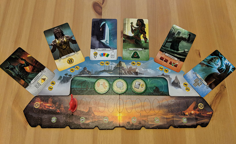 7 Wonders Duel: Pantheon Layout