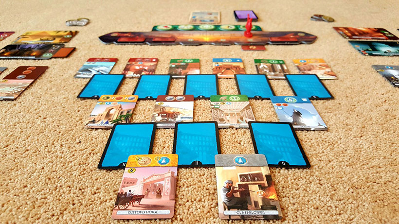 How to Play 7 Wonders Duel - Layout