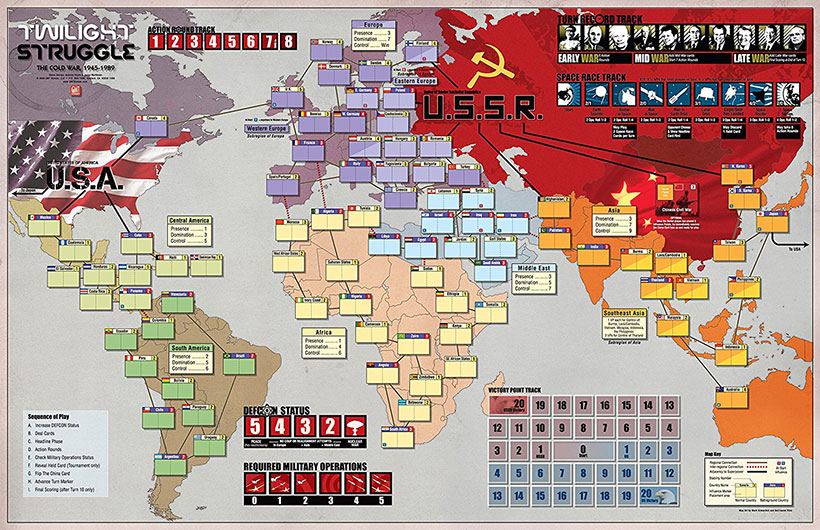 How to Play Twilight Struggle - Map/Board