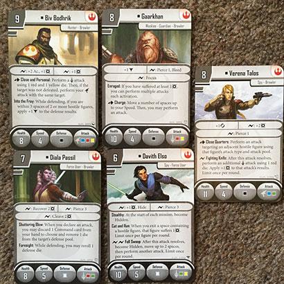 Imperial Assault - Rebel Cards