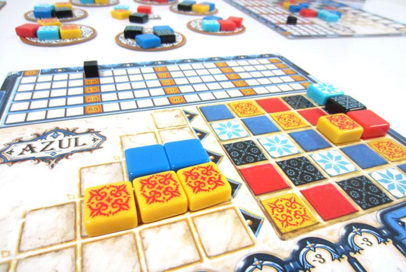Playing Azul Board Game