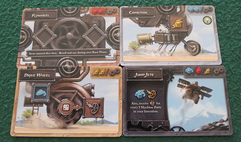 Steampunk Rally Review - Cards