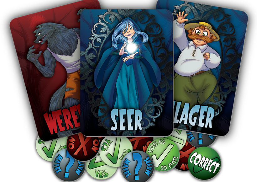 Werewords Characters and tokens
