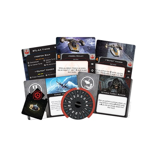 Star Wars X-Wing- BTL-A4 Y-Wing Expansion Pack Cards