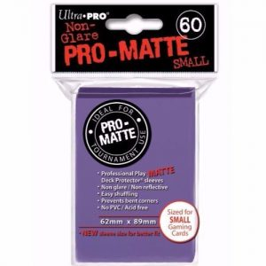 Pro Matte Small Purple Deck Protector Sleeves
