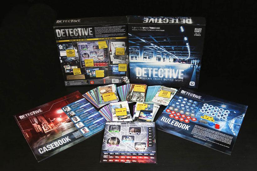 Detective A Modern Crime Board Game - Box Contents