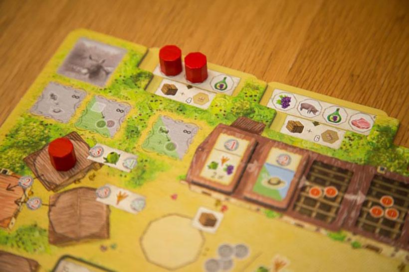 Playing La Granja Board Game