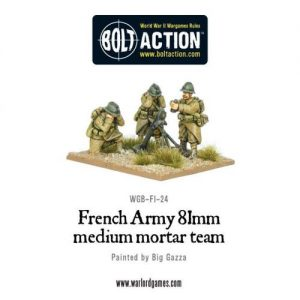 Early War French 81mm Mortar Team