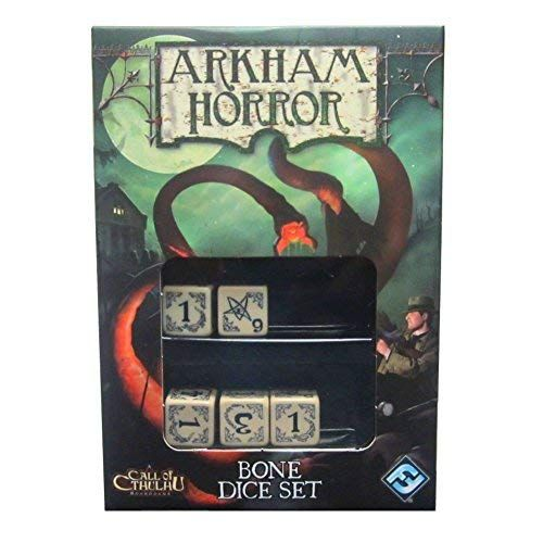 Arkham Horror Dice Set: Bone /w Blk