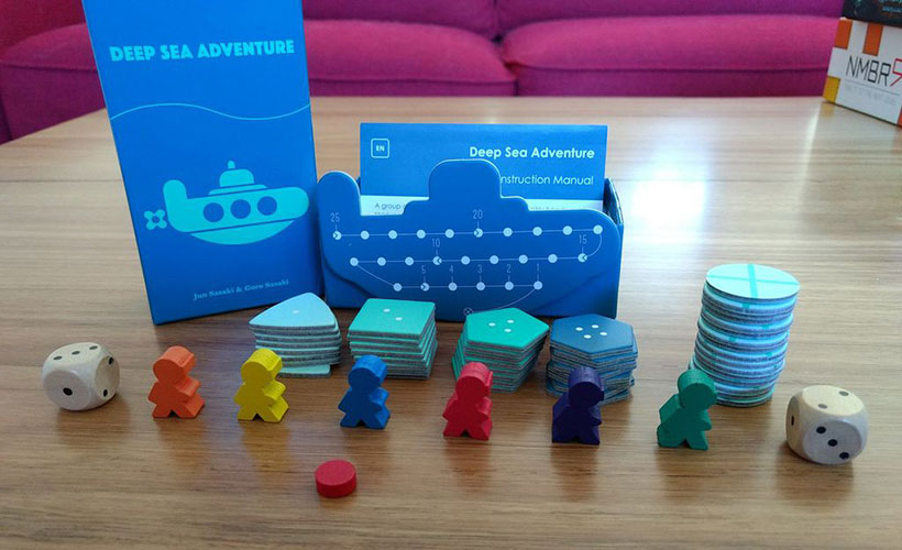 Deep Sea Adventure Review- - Game Components