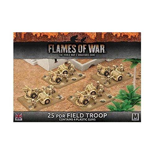 Desert Rats 25pdr Field Troop (Plastic