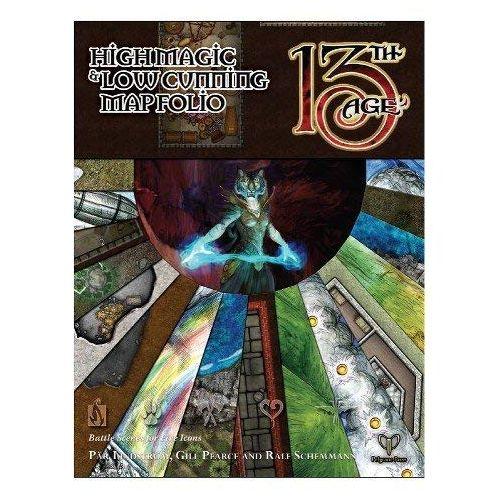 High Magic & Low Cunning Map Folio: 13th Age Fantasy RPG Supp