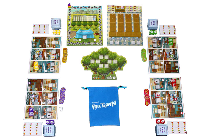 Playing Pie Town Board Game