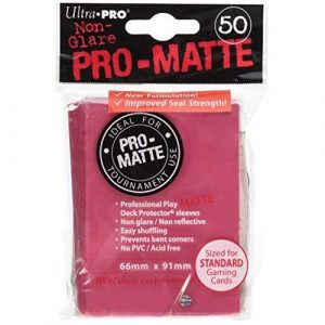 Pro Matte Fuchsia Deck Protector Sleeves