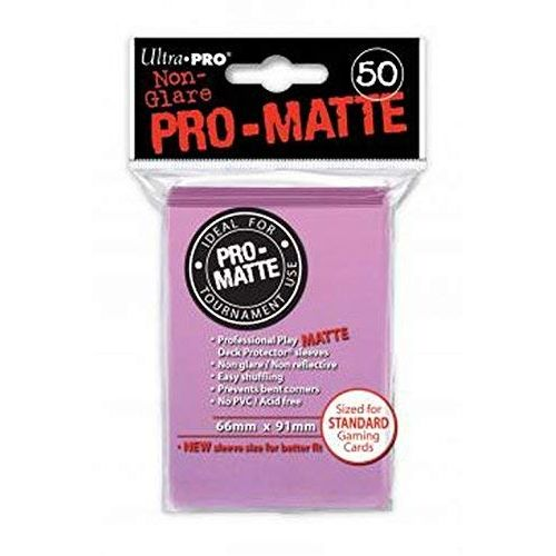 Pro Matte Pink Deck Protector Sleeves