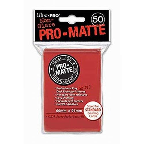 Pro Matte Red Deck Protector Sleeves