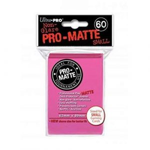 Pro Matte Small Bright Pink Deck Protector Sleeves