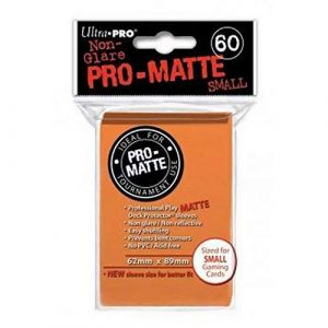 Pro Matte Small Orange Deck Protector Sleeves