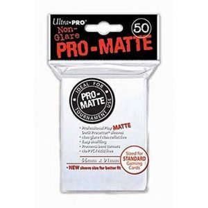 Pro Matte White Deck Protector Sleeves