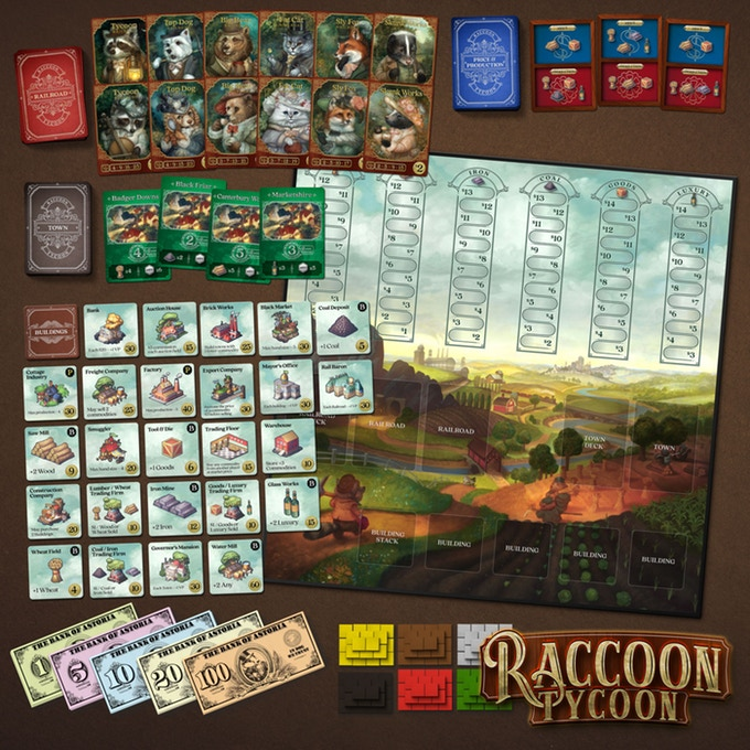Raccoon Tycoon Kickstarter Contents