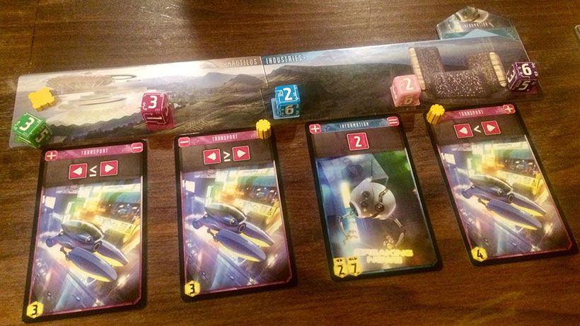 Sentient Board Game - Cards, Dice and Boards