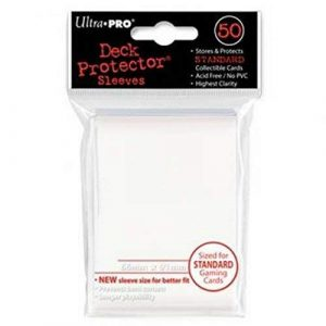 Standard White Deck Protector Sleeves
