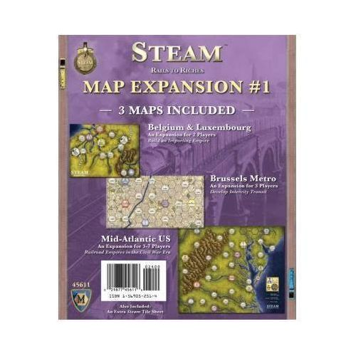 Steam: Rails to Riches Map Expansion #1