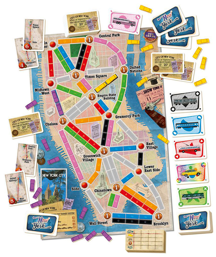 Ticket to Ride: New York Review - Player Board